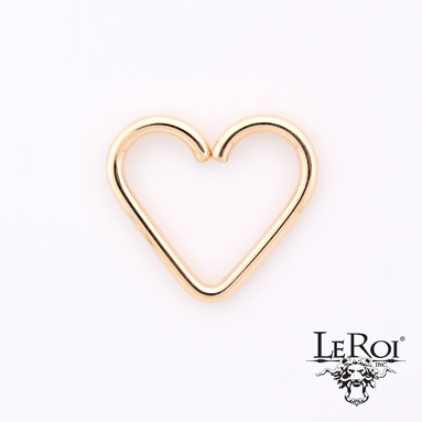 14k Plain heart 1.2x9.5mm