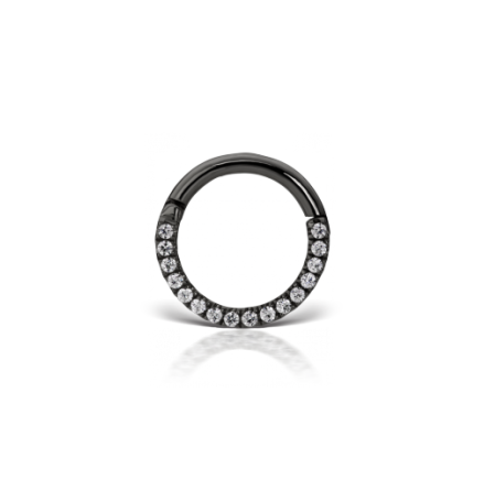 """Eternity""-clicker med kubisk zirkonia (1,2 mm)"