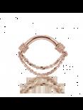 Septumsmycke i guld med dubbla kedjor (1,6 mm)
