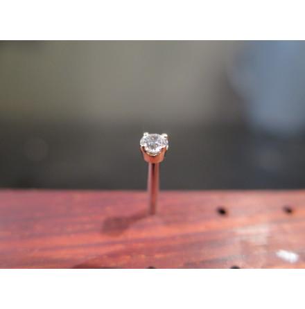 Topp i guld med äkta diamant