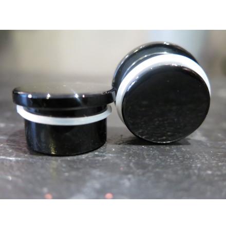 Obsidian Plug, single flare, Black