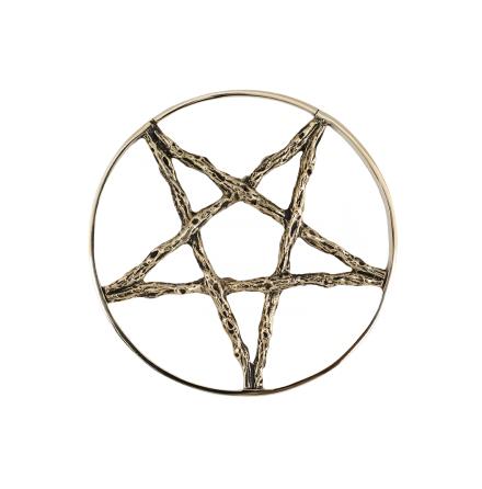 Pentagram i mässing, väger 60 gram st, passar hål från 5mm