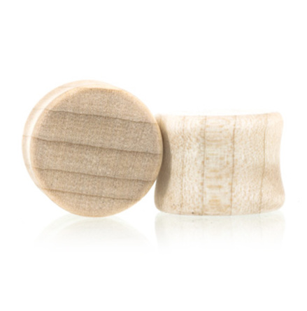 Pluggar i curly maple-trä