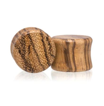 Pluggar i zebrawood-trä