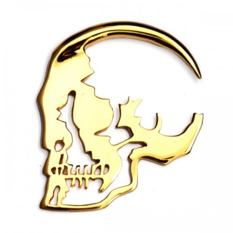 Skull Silhouette Weight Gold Plated 3mm