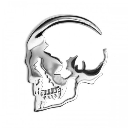 Skull Silhouette Weight Metal