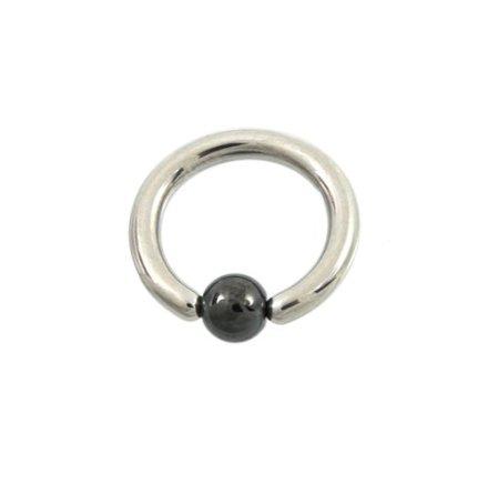 """""""Captive Beads"""", Clip-in kula i Hematit"""