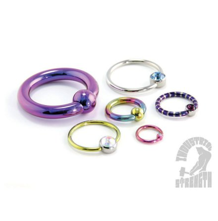 BCR, ring i titan (1,6 mm - 5,2 mm)