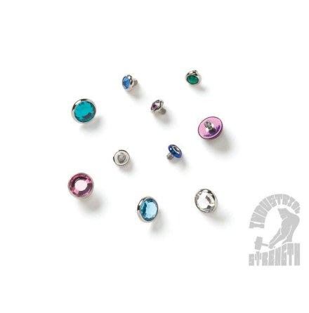 Gängad topp med metallinfattad Swarovski-kristall