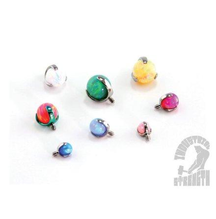Rund kloinfattad opalit-topp