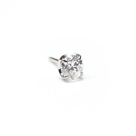 Topp i titan med äkta diamant