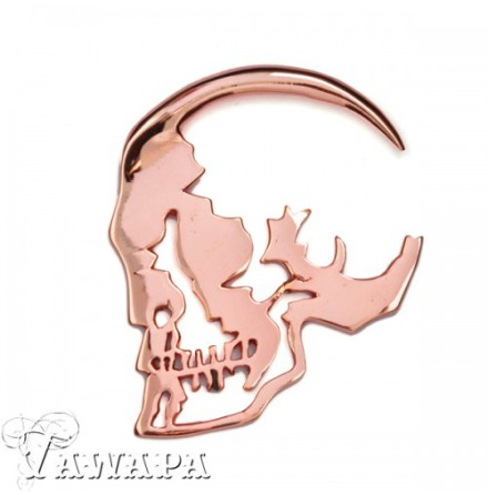 Skull Silhouette Weight Rosé Gold Plated 6.5mm