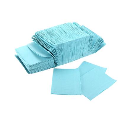 Dental bibs serveter med plastad undersida 50 st, Blå