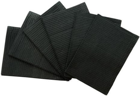Medicom Dental Bibs, box of 500pcs, Black.