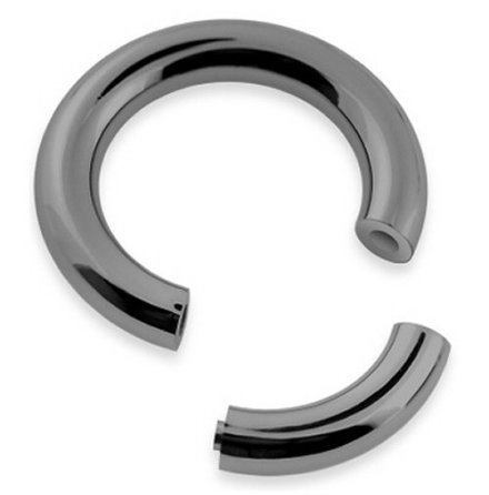 Segment ring i Niobium (svart) 3.2mm