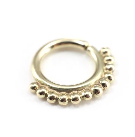 Septum smycke i 14k guld med ´vridlåsning´1.6x7.9mm balls