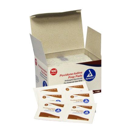 Provodine Iodine Prep Pads 100/Box