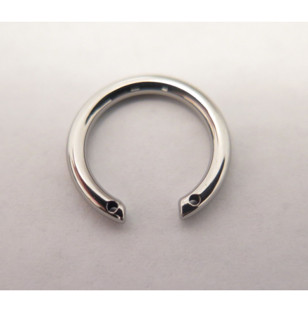 Ti ring 1.6x9.5mm W/Front facing holes