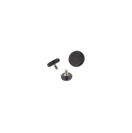 Platt disk i titan (svart)