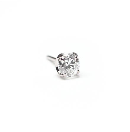 Topp i Vitguld med äkta diamant