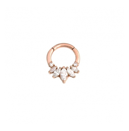 Tesseracti roséguld med alla stenar i diamanter 1.6x7.9mm