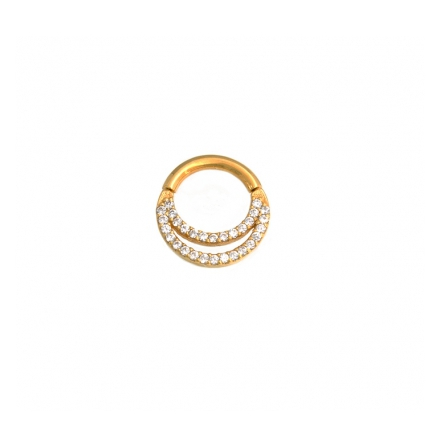 """""""JANESCA""""- Rose gold, alternating 1 mm Cubic zirconia and beads!"""