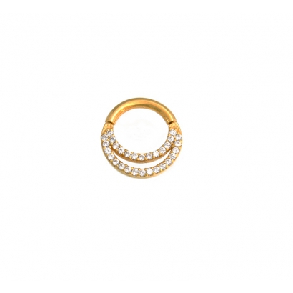 JANESCA,Rose gold with alternating 1mm Cubic zirconia and beads!