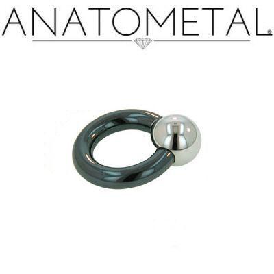 Ring i Niobium med stål kula, 2.6x22.2mm