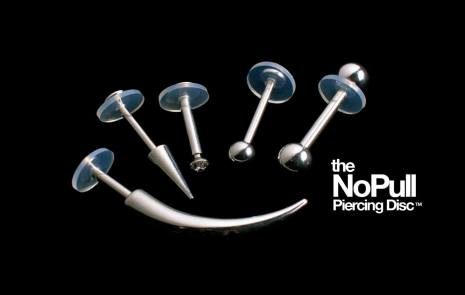 NoPull Piercing Discs - Aids in healing new piercings (4st i varje packet)