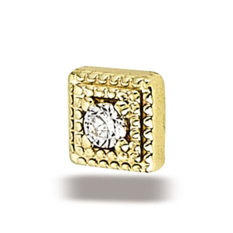 Square miligrain 2mm stone CZ