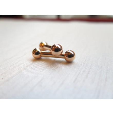 Stav i solid roséguld 18k 3.2x12.7mm 6.3mm kulor