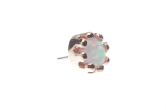 Pin with CABOCHON Crown Prong - 5mm - 3mm Gem,3mm Synth White Opal (1)