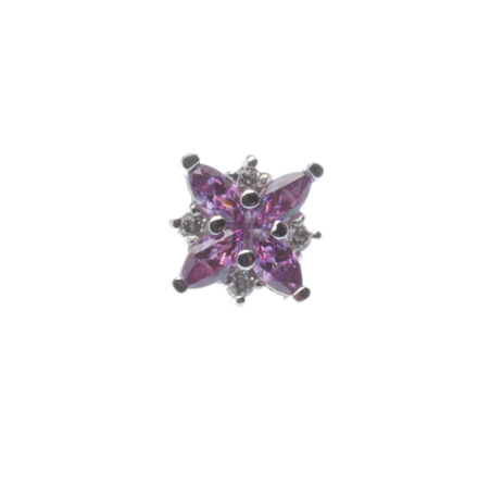Pin with Mini Pleades - 6mm - 4 3 x1.5mm Marquise and 4 1mm Round Accents
