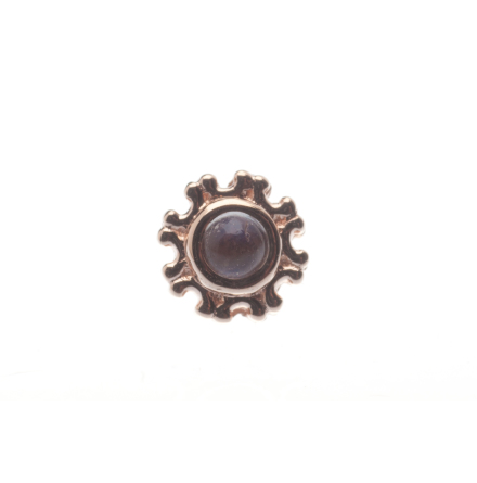 Pin with Firenze - 4.5 mm - 2 mm Bezel in Center, 2 mm Rainbow MOONSTONE (1)