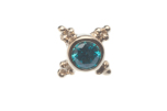 Pin with Mini Kandy - 5mm - 2mm Bezel and 4x Tri Bead Accents,2mm Mint CZ (1)