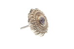 Pin with Round Afghan - 6mm - 1.5mm Bezel in Center, 1.5mm Synth Purple (1)
