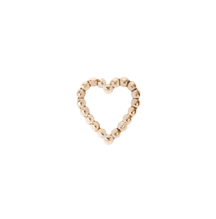 Tiny heart in gold, fits all threadless