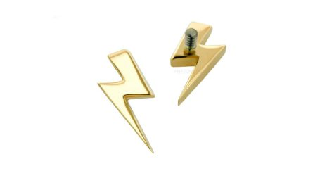 18k Yellow gold Lightning in push-pin