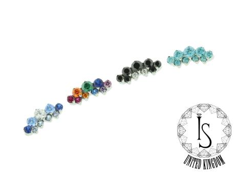 Odyssey ´Suprium 2´ Titanium Prong-set faceted gem end ´Double Row Prium´-WCZ