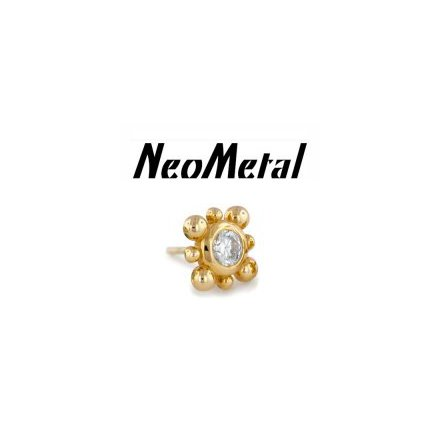 14k yellow gold bali flowers, fits push pin