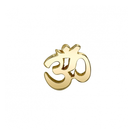 14k Ohm in yellow gold , Push pin