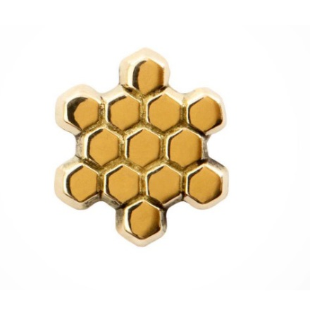 "14k ""Honeycomb"" , threadless"