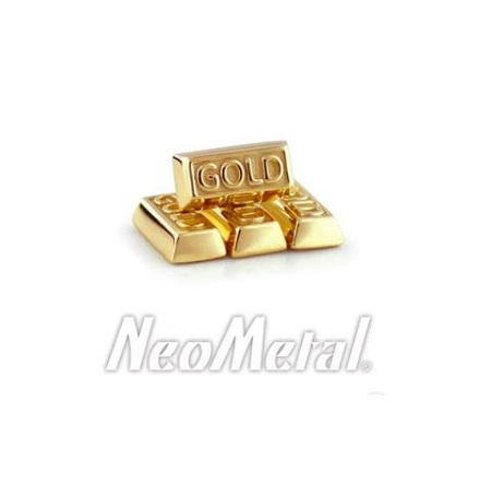 """Goldbar""- 14k gold, push pin"