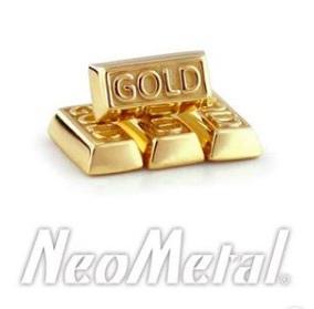 """Goldbar""- 14k gold, push pin"