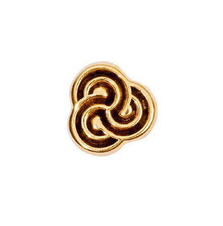 "14k ""Swirl"", Threadless"