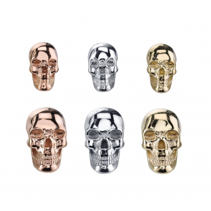 """Skull""- yellow gold, threaded 14k"