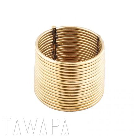 Brass Karen Coil Bracelet, in Brass