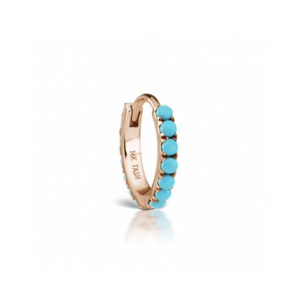 Turquoise Eternity Clicker in roségold, 14k, 1.2 mm