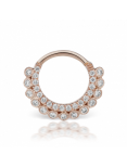 14k 1.2x7.9mm Diamond Apsara Clicker in rosé gold