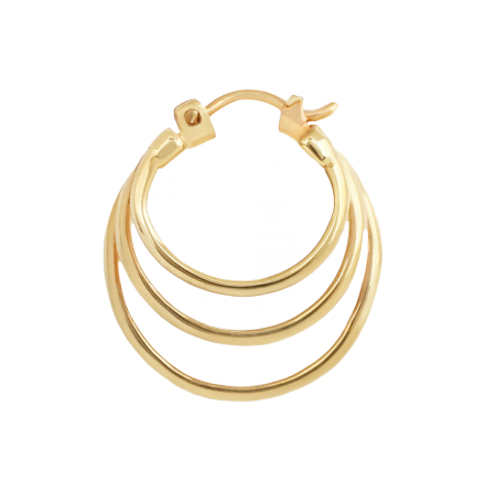 18k, Mini Saturns, Three delicate rings